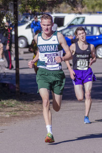 Travis Claeys Senior, Sonoma Valley 2nd SCL, 11th NCS D III, 66th State, won 2 tri-meets