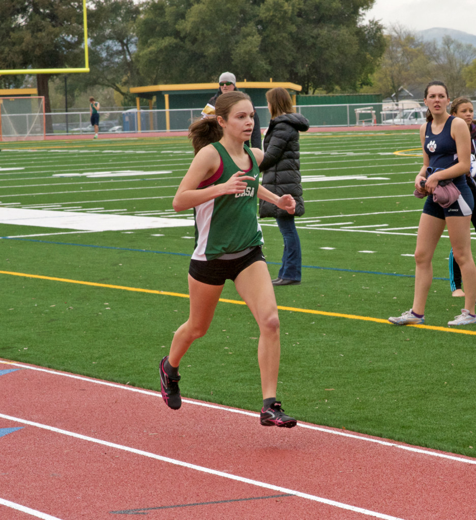 Casa Grande's Adria Barich shown here in the 1600 won both the 1600 5:12.6 & 800 2:22.4.