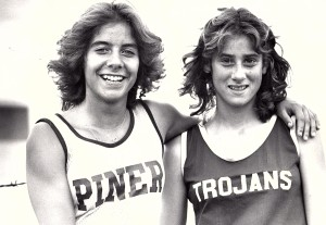Piner's Laurie Hollingworth and Petaluma's Lori Shanoff were fierce competitors but good friends off the track.