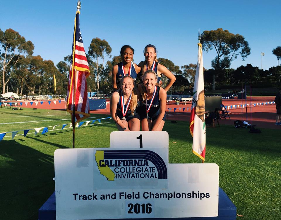 Jackie Chalmers was a member of the UC San Diego Women's 4x400 Meter Relay that won the California Collegiate Invitational on 4/2 in 3:48.93.