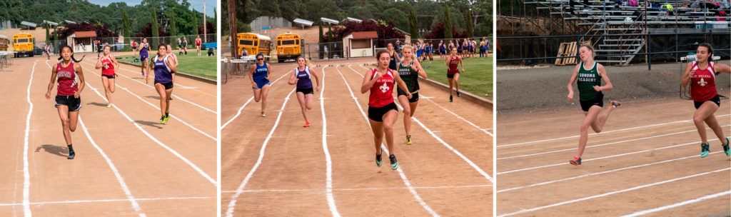 Yes that is Rylee Bowen the middle 100 meter race.