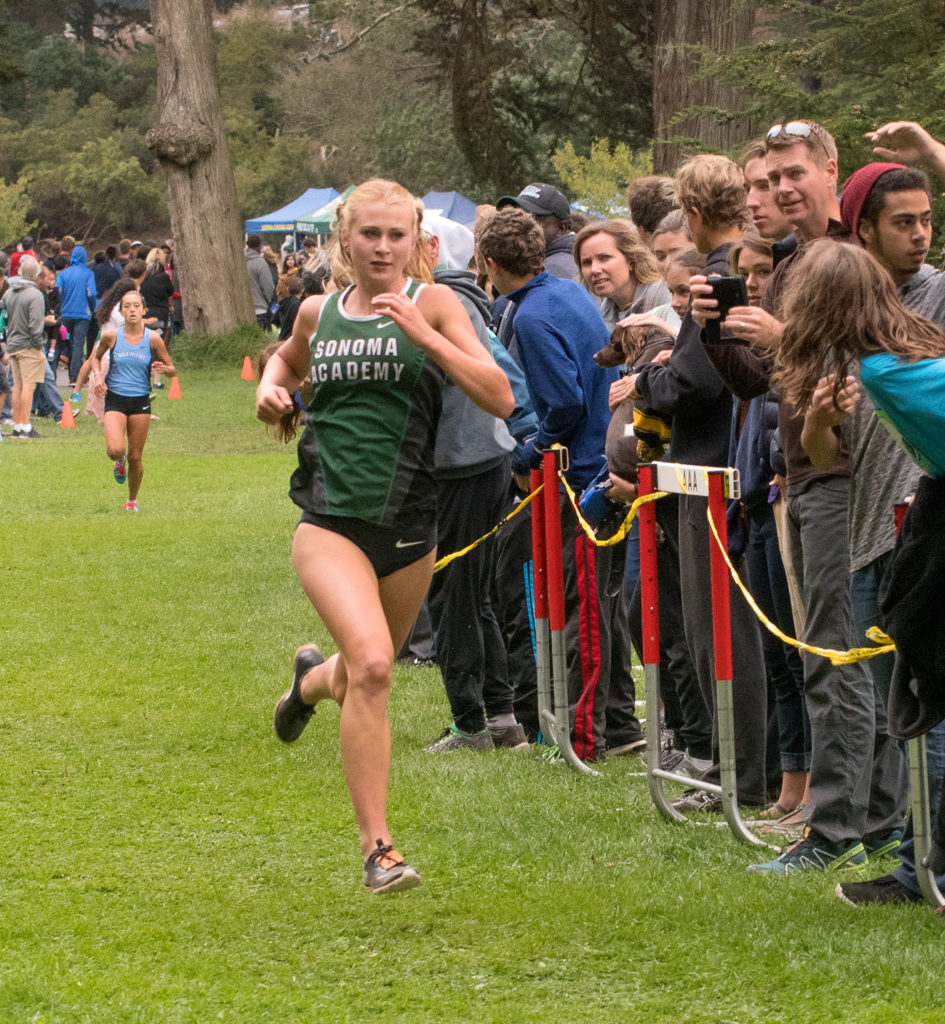 1st Rylee BOWEN (JR) SONOMA ACADEMY 17:03.5, fastest time for all divisions
