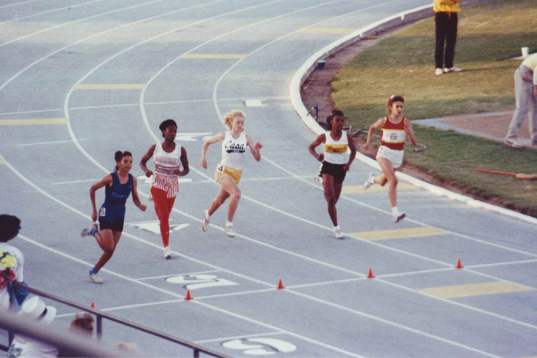 Junior year photo when Woolheater, in yellow shorts, would finish 5th.