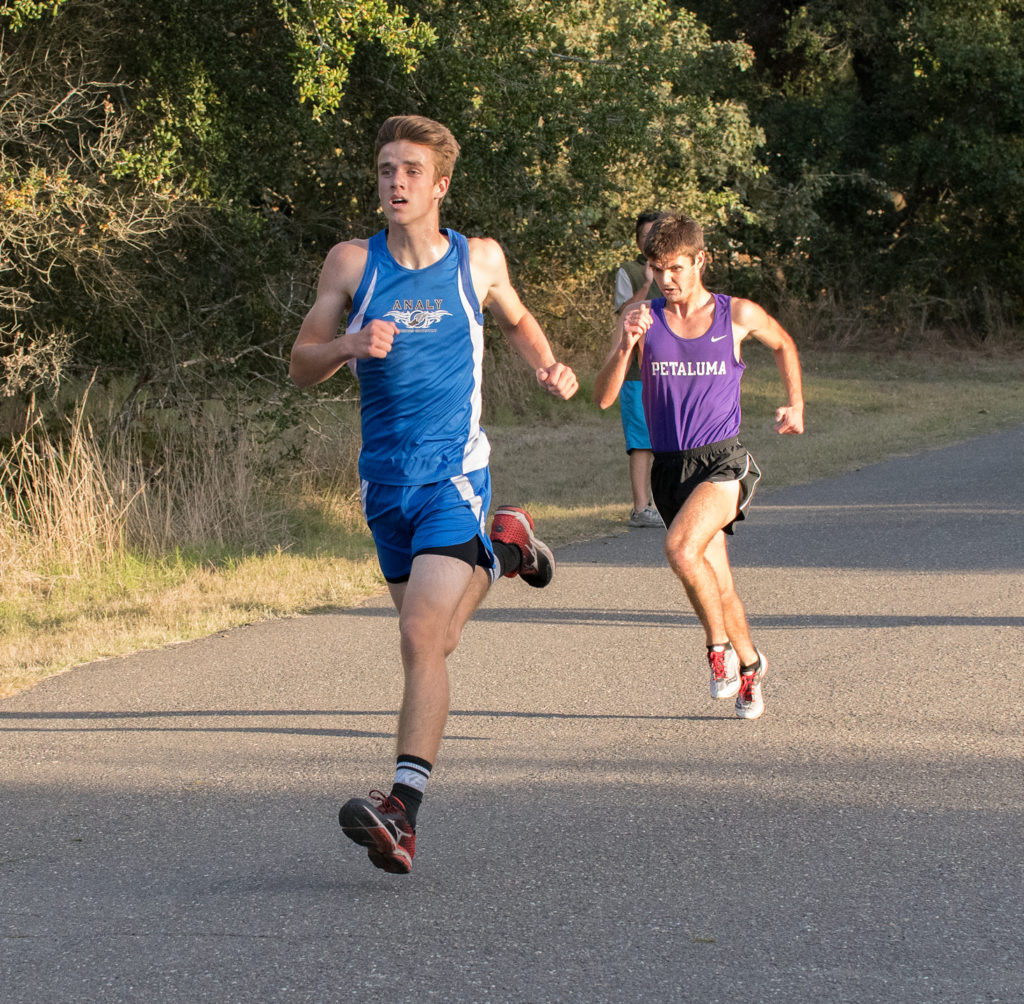 In a battle for 4th and 5th, it was Analy's Alec Dierke edging Petauma's Connor Efestathiu,both at 15:13.