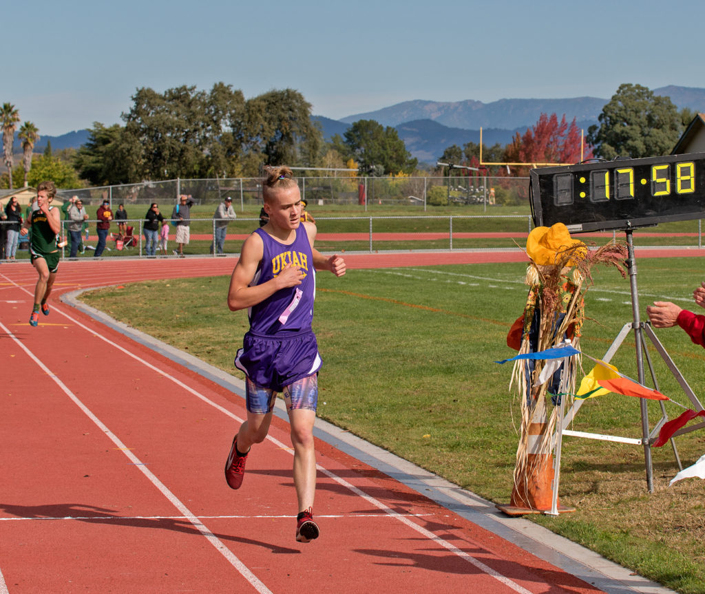 7th place went to Grant Miller of Ukiah in  17:57