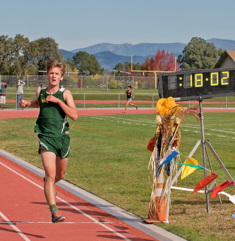 8th place went to Joseph Miller of San Marin in 18:02