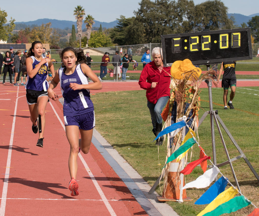battle for 6th place, it went to Ft. Bragg's Haley Hutchinson in 22:07. Ukiah's Emma Barash finished just behind in 22:09